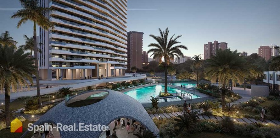 Apartment in Benidorm, Alicante, Spain 3 bedrooms, 129.32 sq.m. No. 1309