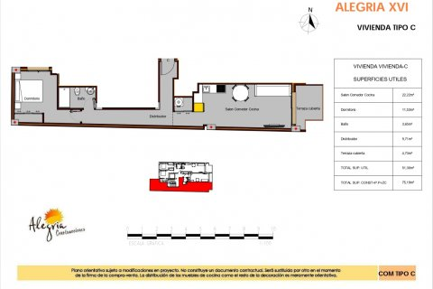 Apartment for sale in Torrevieja, Alicante, Spain, 1 bedroom, 75.19m2, No. 15804 – photo 13
